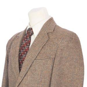 Vtg Pendleton Brown Weave Virgin Wool Sport Coat